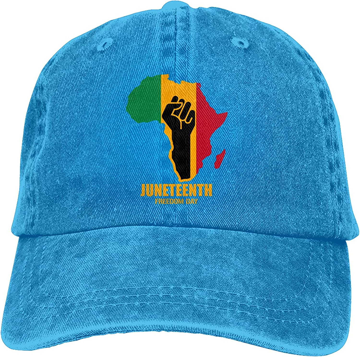 BGWORZD African American - Juneteenth Day Baseball Caps, Cotton Washed Adult Cowboy Hats, Adjustable Dad Hats Black