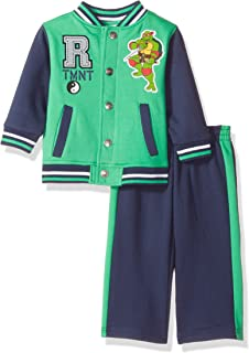 Nickelodeon Baby Boys' Ninja Turtle 2 Piece Fleece Jacket Set, Green, 24 Months
