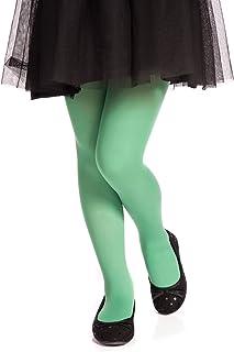 Romartex 40 DEN - Collant da bambina, in microfibra verde chiaro 34
