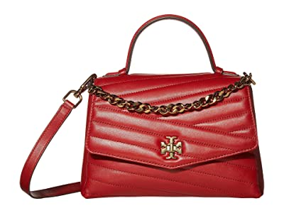 Tory Burch Kira Chevron Top-Handle Satchel (Red Apple) Handbags