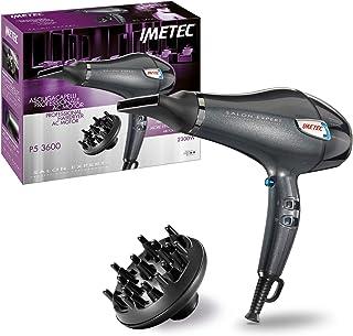 Imetec Salon Expert P5 3600 - Secador de pelo profesional, 2300W, rejilla con revestimiento de cerámica y queratina, tecnología de iones, 8 combinaciones de aire y temperatura, 2 boquillas