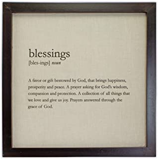 Cathedral Art Definition Plaque - Blessings, One Size, Multicolored