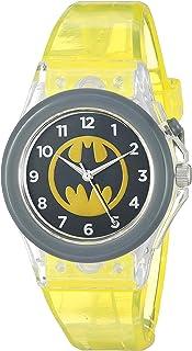 DC Comics BAT9459 - Reloj de cuarzo (plástico y goma), color amarillo