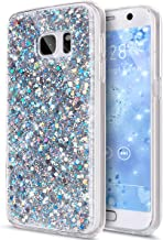 Galaxy S7 Case,Galaxy S7 Cover,Galaxy S7 Bling Case,ikasus Luxury Sparkle Bling Diamond Glitter Paillette Flexible Soft Rubber Gel TPU Protective Skin Bumper Silicone Case Cover for Galaxy S7,Silver