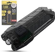 Nitecore TUBE Keychain Light - USB Rechargeable 55 Lumens 9.3g [New Version - 2021] [Black]