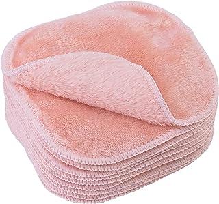 Polyte - Toalla facial desmaquillante de microfibra - Hipoalergénica y sin elementos químicos - Premium - Rosa (13 x 13 cm)