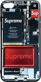 KIKO LTD iPhone 8 Plus/iPhone 7 Plus Case, Fashion Protective 9H Tempered Glass Back Cover Soft Silicone TPU Bumper Frame Anti-Scratch