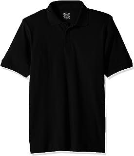 Classroom School Uniforms Kids Big Boys' Uniform Short Sleeve Interlock Polo, sos Black, XL