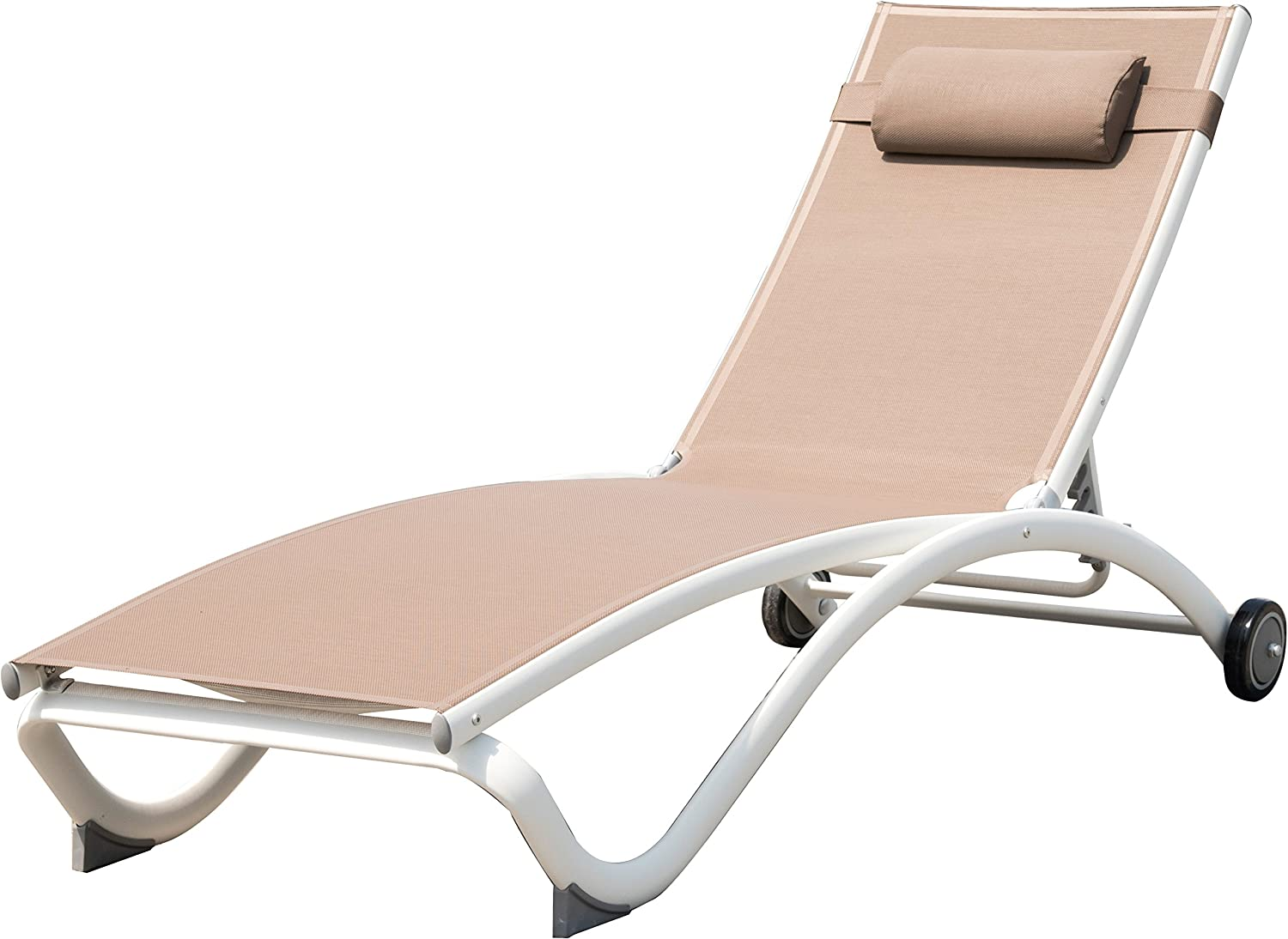 Vivere GLEL-MA Glendale Aluminum Adjustable Lounger: Amazon.ca