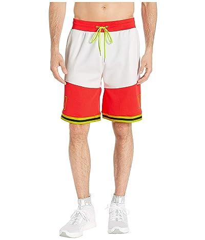PUMA LuXTG Basketball Shorts (Puma White/Nrgy Red/Yellow Alert/Puma Black) Men