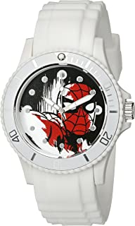 Marvel Women's W002560 Spider-Man Analog Display Analog Quartz White Watch