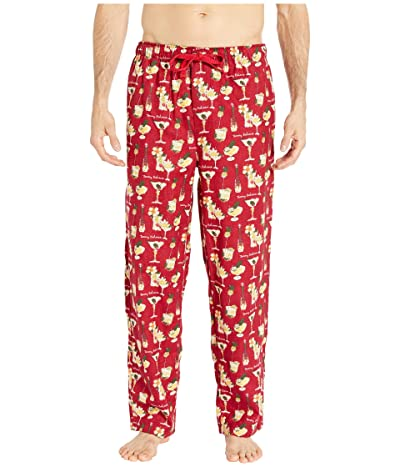 Tommy Bahama Cheers Flannel Pants (Holiday Cheer Red) Men