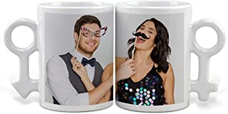 Lolapix - Tazas Pareja personalizada con tu foto, diseño o texto. Regalo único, original y exclusivo. Regalo para enamorados. Tazas con Amor.