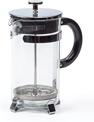RSVP International Endurance (FP-8) Coffee French Press Maker, 8 Cup | Craft Delicious French Press Coffee | Vintage Look with Borosilicate Glass & Plunger in Chrome Frame | Dishwasher Safe