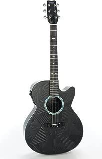 RainSong Guitars Black Ice Series BI-WS1000N2 Acoustic-Electric Guitar, Natural carbon