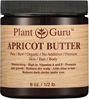 Apricot Body Butter 8 oz. 100% Pure Raw Fresh Natural Cold Pressed. Skin, Hair, Nail Moisturizer, DIY Creams, Balms, Lotions, Soaps.