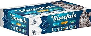 Blue Buffalo Tastefuls Natural Pate Wet Cat Food Variety Pack, Chicken, Turkey & Chicken and Ocean Fish & Tuna Entrées 5.5...