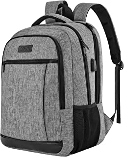 QINOL Travel Laptop Backpack Anti-Theft Work Bookbags With Usb Charging Port, Water Resistant 15.6 Inch College Computer B...