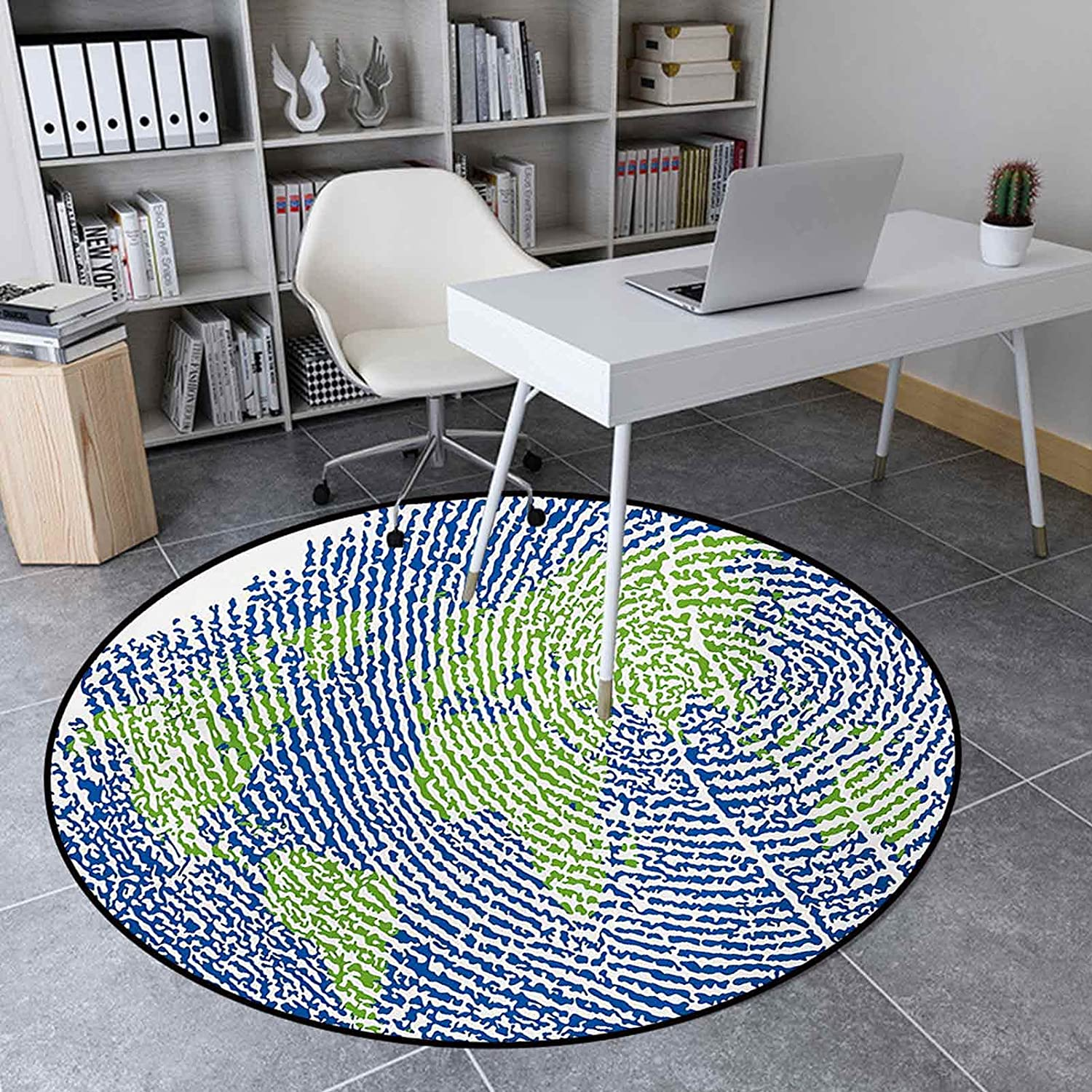 Round Area Rugs 4.6 Ft Non-Slip Luxury Map Mat Room At the price for Living o