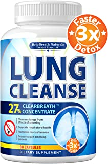 Lung Cleanse - Helps to Quit Smoking & Supports Respiratory Health - Effective Lung Detox - Made in USA - Lung Support & Asthma Relief - COPD Treatment with Thyme, Astragalus, Green Tea, Elecampane