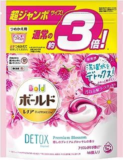 ボールド 洗濯洗剤 ジェルボール 洗濯水をデトックス 癒しのプレミアムブロッサム 詰め替え 46個(約3倍)