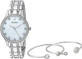 بولوفا 96X145 للنساء كريستال مينا لؤلؤي طقم ساعة