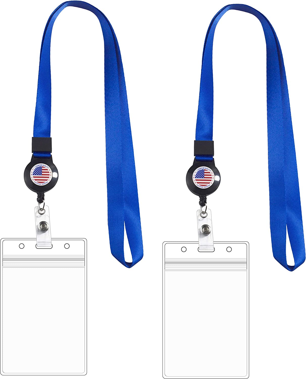 Retractable Lanyard Direct stock discount with OFFicial store US Flag Card ID Badge H ReelWaterproof