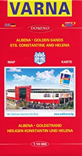 Varna (Bulgaria) 1:10,000 Street Map with Albena, Golden Sands and St.Constantine DOMINO