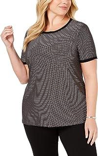 Anne Klein Women's Size Plus Button Back Top