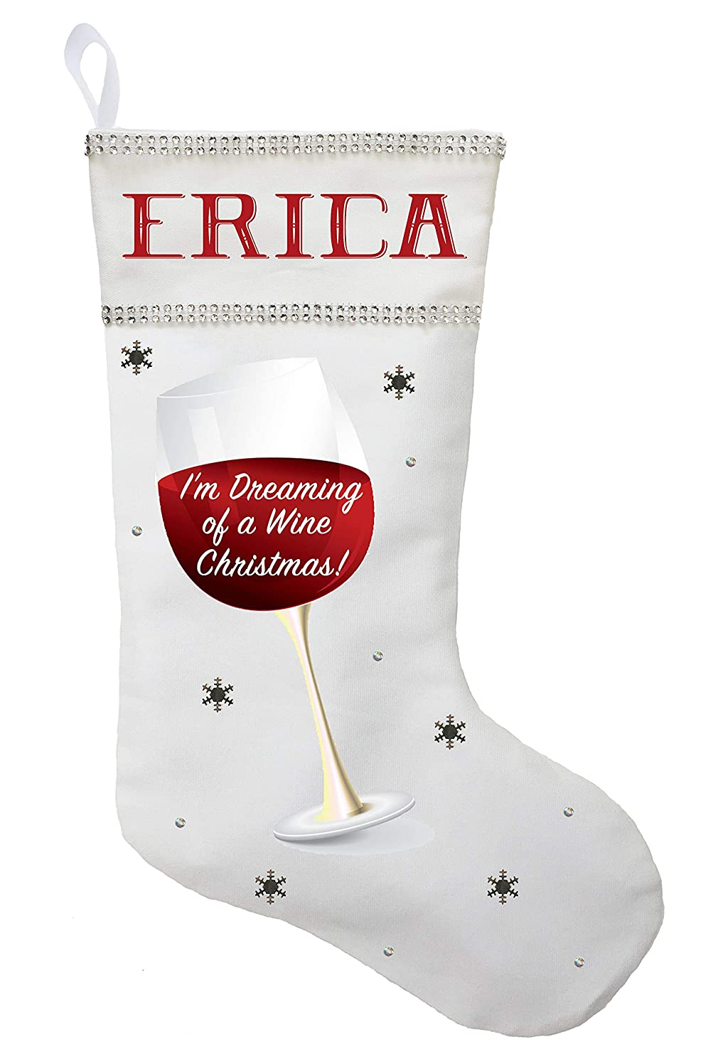Wine Christmas Stocking, I'm Dreaming of a Wine Christmas Stocking, Custom Wine Christmas Present