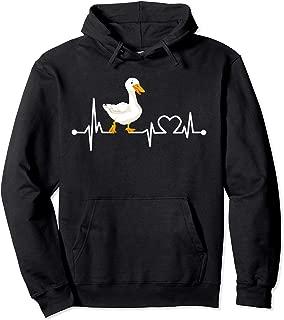 Goose Heartbeat Funny Farmer/Farming/Farm Cool Love Gift Pullover Hoodie