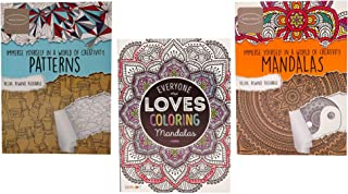 Advanced Adult Coloring Bundle (3 Books, 40 pgs Each, 2 Mandalas and 1 Patterns) Immerse Yourself, Everyone Loves Coloring...