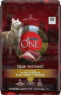 Purina ONE SmartBlend True Instinct Natural Turkey & Venison Adult Dry Dog Food & Venison Dog Treats