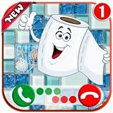 Paper Toilet Calling You - Free Fake Phone Game Calls & Fake Chat Simulator ID PRO - PRANK FOR KIDS