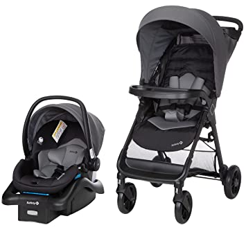 Safety 1st Smooth Ride Travel System with OnBoard 35 LT Infant Car Seat, Monument: image