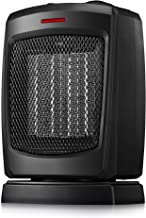 andily Oscillating Portable Ceramic Space Heater for Home and Office Indoor Use with Adjustable Thermostat Overheat Protection and Carrying Handle ETL Listed, 750W/1500W