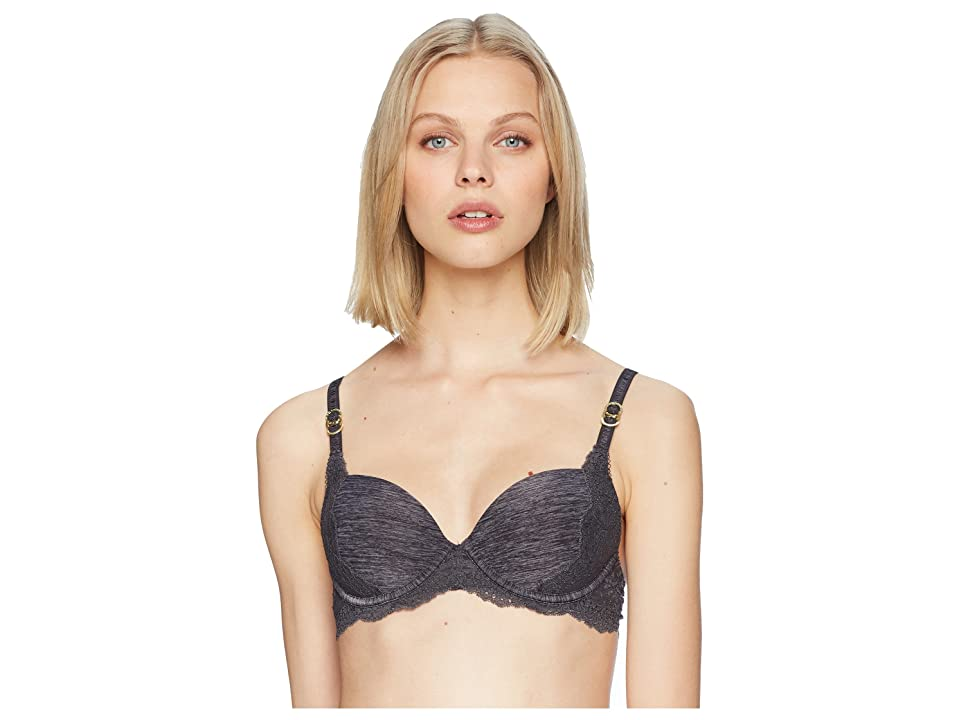 Stella McCartney Stella Smooth Lace Contour Plunge Bra (Grey Marl) Women