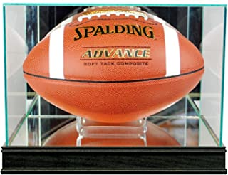 Perfect Cases Rectangle Football Display Case with Sport Moulding