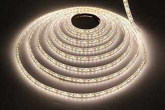 LEDMY Flexible LED Strip Lights DC12V SMD3528 600LEDs, IP62 Easy Waterproof LED Tape Light,Daylight White 4000K Rope Light...