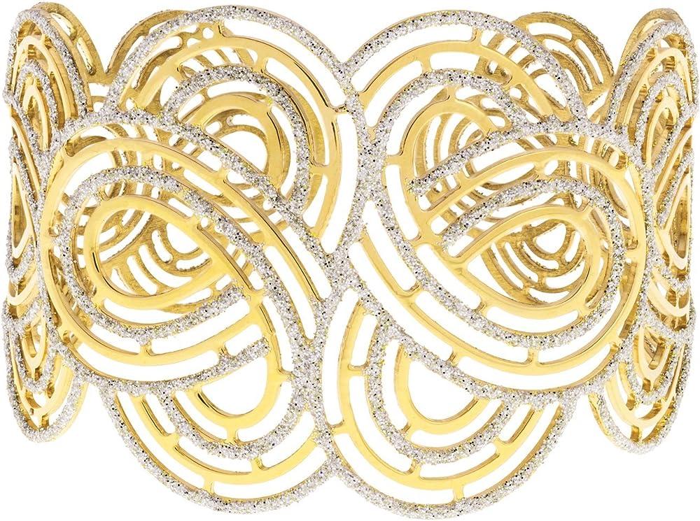 Stroili  bracciale per donna in argento 925 dorato e glitter 1607304