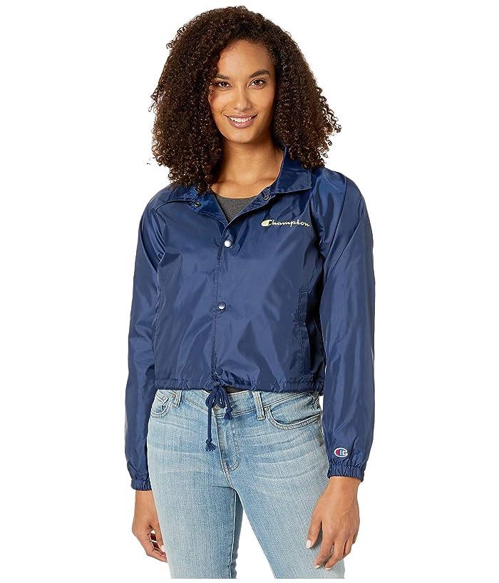 Champion  Cropped Coaches Jacket (Athletic Navy) Womens Coat