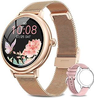 NAIXUES smartwatch voor dames, slaap- en caloriemonitor, hartslagmeter, 7 sportmodi, slimme meldingen, sporthorloge voor d...