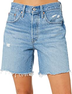 Levi's Women's 501 Mid Thigh Short Cotton Fitted Blue