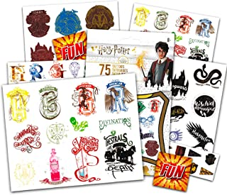 Harry Potter Tattoos for Kids Party Favors Set ~ Bundle Includes 75 Harry Potter Temporary Tattoos for Adults with Bonus G...