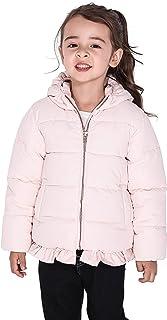 SOLOCOTE Little Girls Winter Jacket 1-8Y Cotton Coat with YKK Zipper Outdoor Outwear