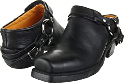 Black Greasy Leather