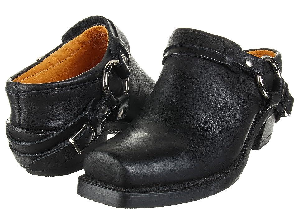 Frye Belted Harness Mule (Black Greasy Leather) Women
