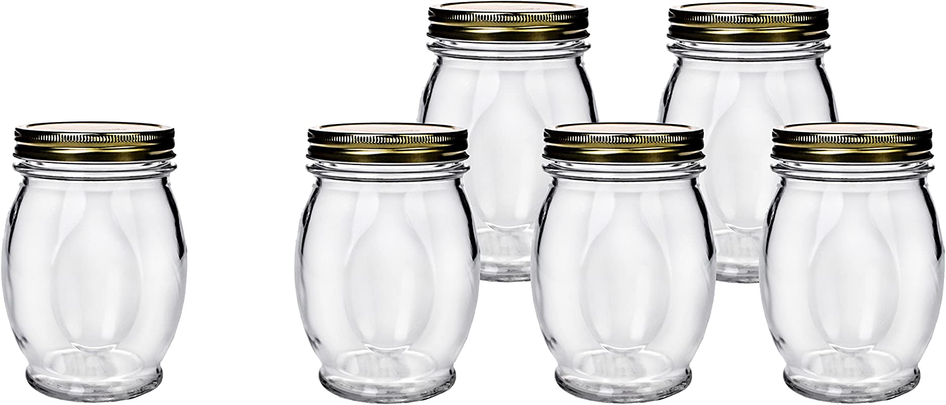 Amici Orto Canning Jars With Lids 27 5 Oz Set Of 6
