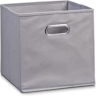 comprar comparacion Zeller 14130 - Caja de almacenaje de tela, plegable, 28 x 28 x 28 cm, color gris