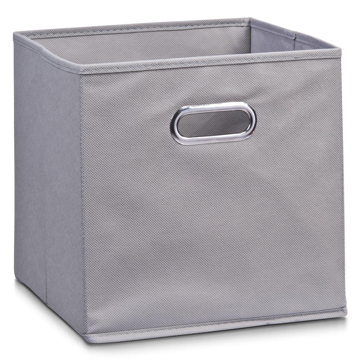Zeller 14110 - Caja de almacenaje de tela, plegable, 32 x 32 x 32 cm, color gris: Amazon.es: Hogar